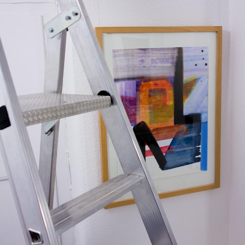 Ausstellungsaufbau Sándor Dóró