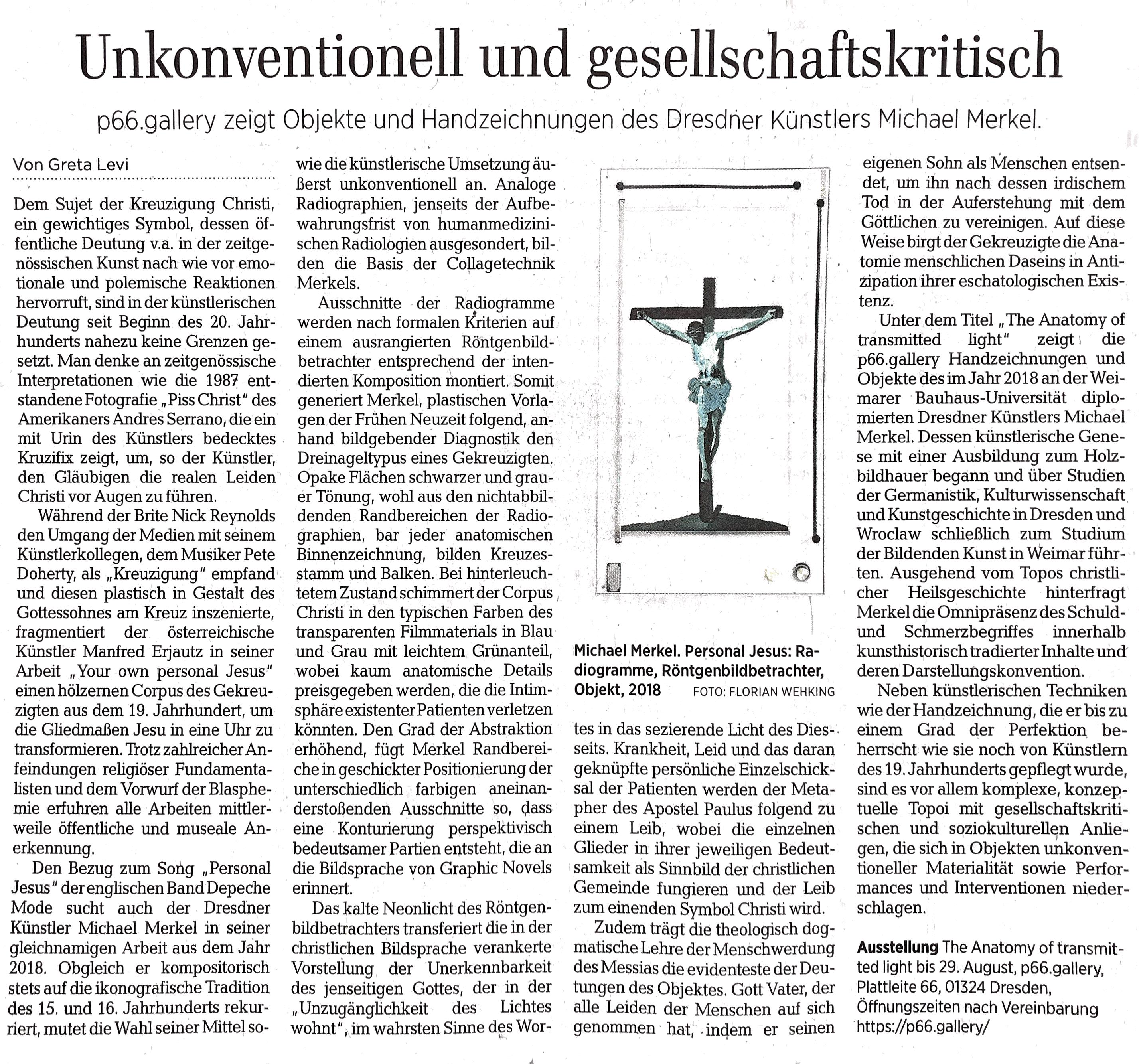 DNN Rezension - Michael Merkel - the anatomy of transmitted light