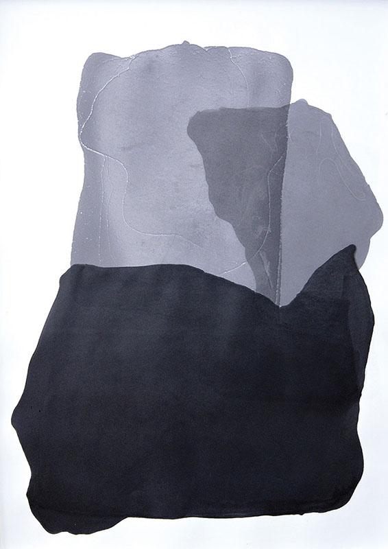 Maria K. Morgenstern - Nebelkappe - Tusche auf Papier, 2018