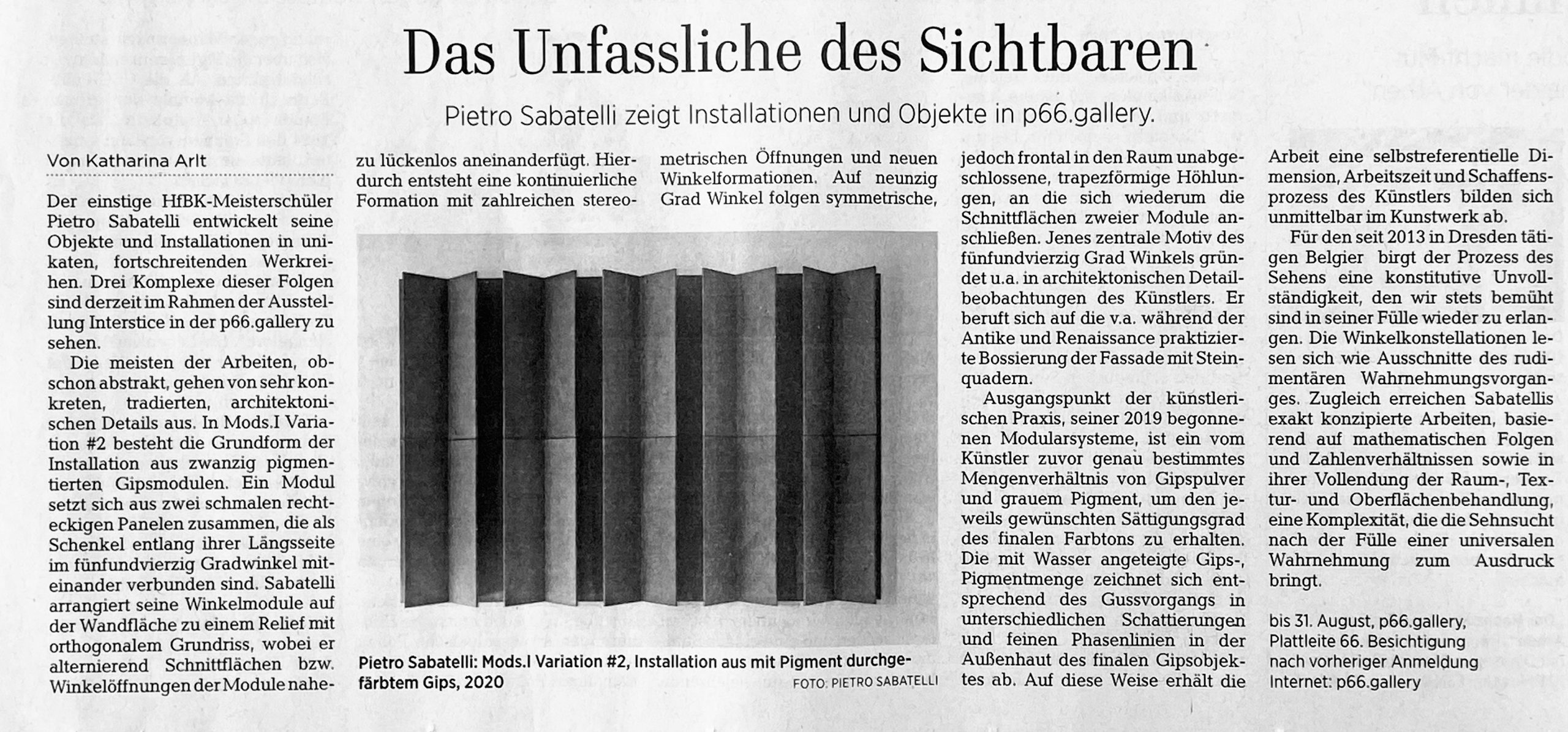 DNN Rezension - Pietro Sabatelli - Interstice